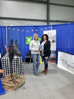 Taralea Simpson and Tracy Wood at the Farm Away booth. They are board members of the Portage and Rural MS Support group and assisted at the booth during the Expo