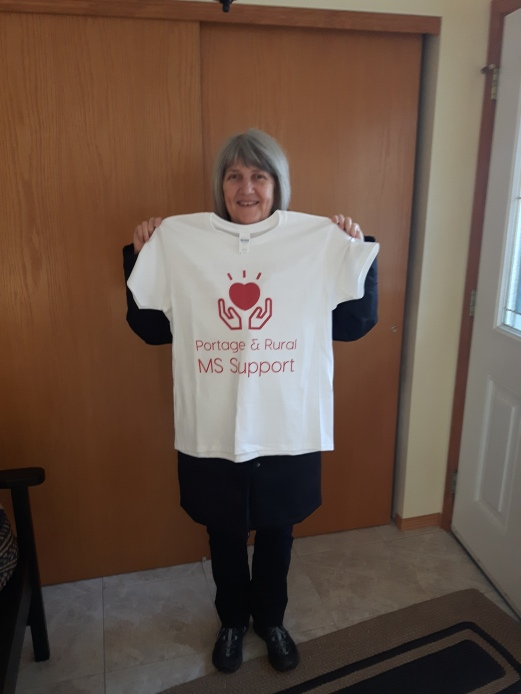 Winner of the Portage and Rural MS Support T-shirt draw: Pat Crandall